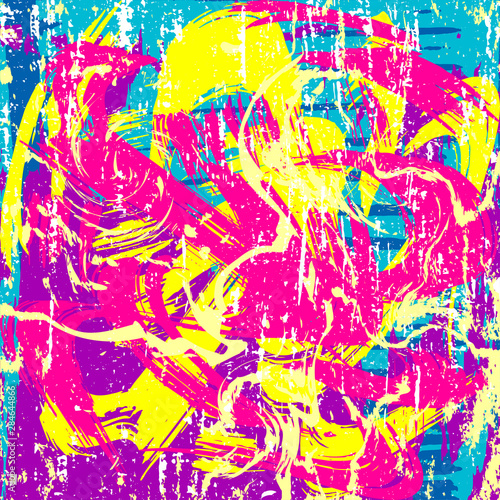 Fototapeta psychedelic colored graffiti pattern illustration obraz na płótnie