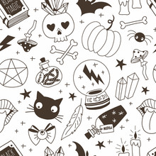 Witchcraft Hand Drawn Vector S...