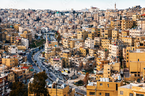 Photo view of the old quarter of Amman