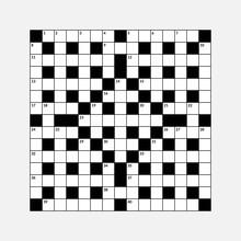 15x15 Crossword Puzzle Vector ...