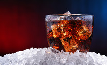 Glass Of Carbonated Soft Drink With Ice