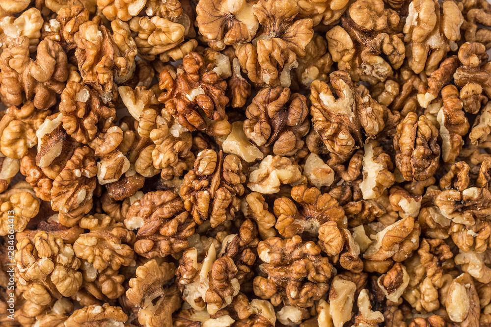 Fototapety, obrazy: Background of walnuts