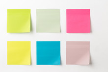 Set Of Colorful Sticky Notes