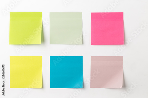 Fotomural  Set of colorful sticky notes