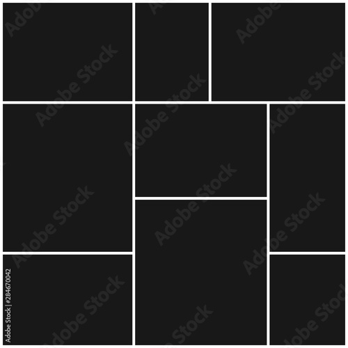 Obraz Collage frames for photo or illustration. Vector EPS 10. - fototapety do salonu