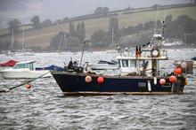 Boats At Exmouth Estuary In De...