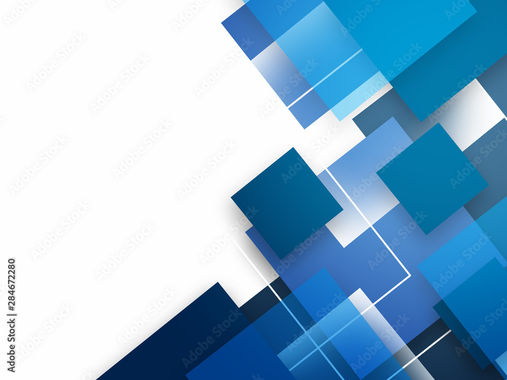 Fototapeta Abstract background with blue squares