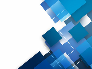 Abstract background with blue squares