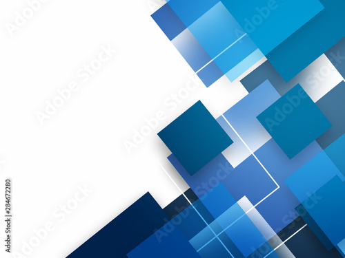 Fotografía  Abstract background with blue squares
