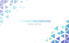 Abstract Modern Triangle Business Background. Space For Your Design Brochure, Leaflet, Flyer, Cover Template