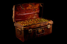 Stacking Gold Coin In Treasure...