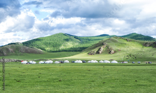 Foto auf Leinwand Landschaft Orkhon Valley at the Central Mongolia