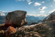 Young Woman Bouldering In The ...
