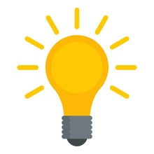 Light Bulb Icon. Flat Illustra...
