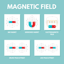 Magnet Infographic. Flat Illustration Of Magnet Vector Infographic For Web Design