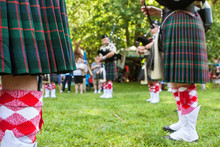 Bagpipers Play To Begin Scotti...