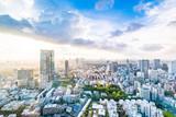 東京の幻想的な青空都会