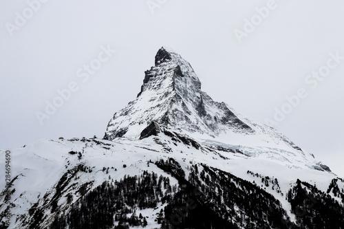 Matterhorn and Cloudy Sky Wallpaper Mural