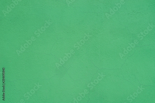 Fotomural  green painted plastered wall background texture