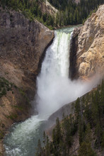 Yellowstone Upper And Lower Falls