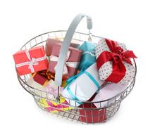 Shopping Basket Full Of Gift B...