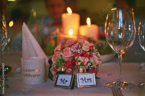 Wedding Mr. & Mrs. seating Canvas Print
