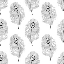 Seamless Pattern With Peacock ...