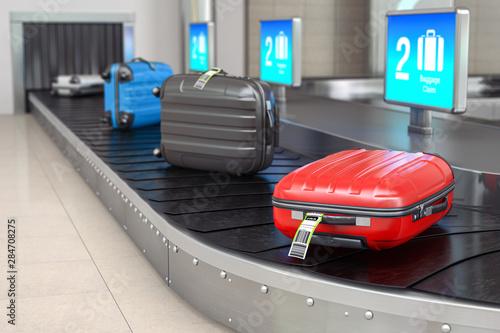 Fototapeta Baggage claim in airport terminal