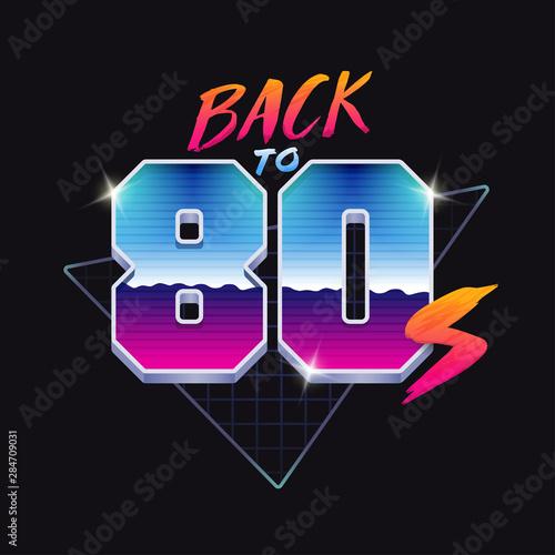 Papel de parede  Back to 80s banner. 80's style illustration