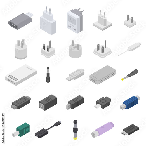 Fotomural  Adapter icons set