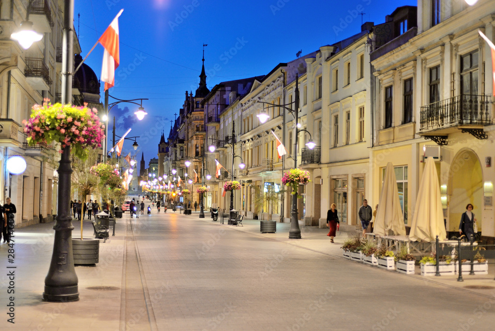 Fototapeta Piotrkowska, Łódź, Polska