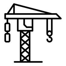 Ship Crane Icon. Outline Ship Crane Vector Icon For Web Design Isolated On White Background