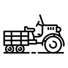 Walk-behind Tractor Icon. Outl...