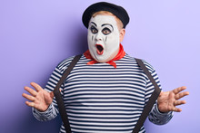 Crazy Talented Mime Performing...