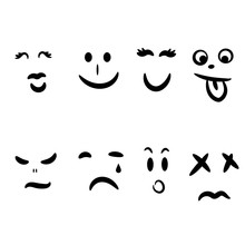 Emoticon Hand Drawn Abstract F...
