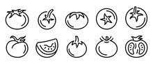 Tomato Icons Set. Outline Set ...