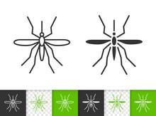 Mosquito Simple Bug Black Line...