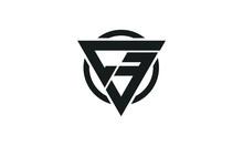 C3, 3C, CE, EC Triangle Logo Circle Monogram Design Vector Super Hero Concept
