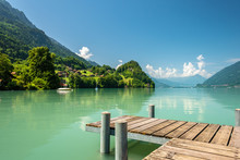 View Of Brienz Lake With Clear...