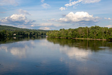 Susquehanna River With Blue Sky Above