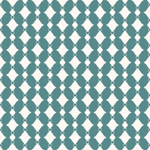 Vector Abstract Geometric Seamless Pattern. Teal Green And White Plaid Texture