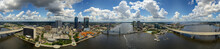 Aerial 360 Panorama Downtown Jacksonville FL And St Johns River