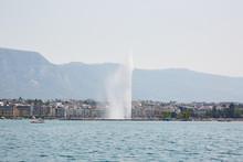 Jet D'Eau Fountain, Lake Geneva.