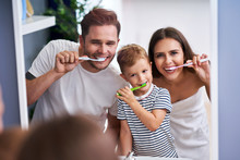Portrait Of Happy Family Brush...