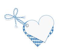 Oktoberfest Blanko Karte In Herz Form Mit Rautenmuster  Und Schleife Für Oktoberfest, Vektor Illustration Hintergrund