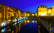 canvas print picture - Night view of Castres, France