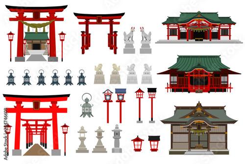Obraz na płótnie 神社アイテムセット