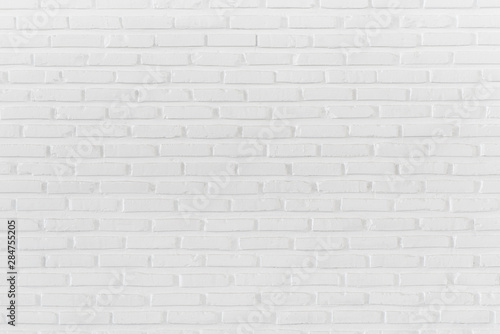 Photo sur Toile Brick wall Pattern of white brick wall for background and textured, Dirthy wall background