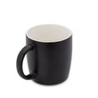 empty black coffee cup or tea on white background. with clipping path.