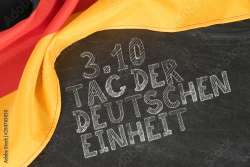 Fotografía  Flagge von Deutschland und Tag der deutschen Einheit